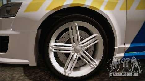 Audi RS6 Hungarian Police para GTA San Andreas vista traseira