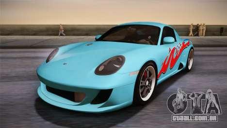 Ruf RK Coupe (987) 2007 HQLM para GTA San Andreas traseira esquerda vista
