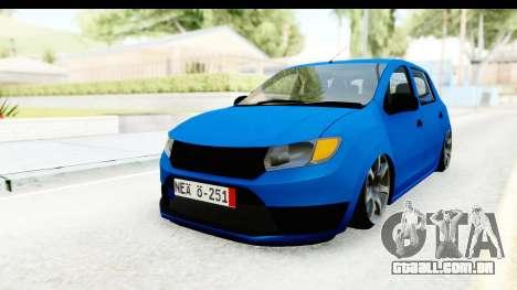 Dacia Sandero 2013 para GTA San Andreas vista direita