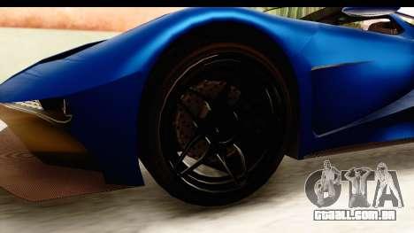 GTA 5 Vapid FMJ SA Style para GTA San Andreas vista traseira