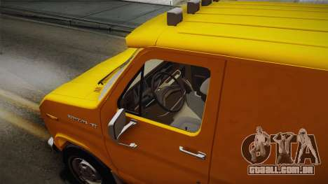 Ford E-150 Commercial Van 1982 2.0 IVF para GTA San Andreas vista traseira