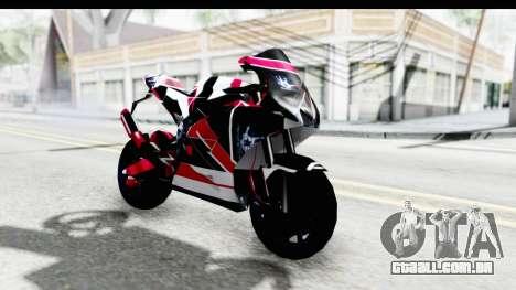 Dark Smaga Motorcycle with Frostbite 2 Logos para GTA San Andreas vista direita
