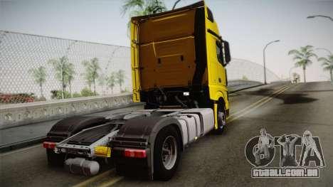 Mercedes-Benz Actros Mp4 4x2 v2.0 Gigaspace v2 para GTA San Andreas esquerda vista