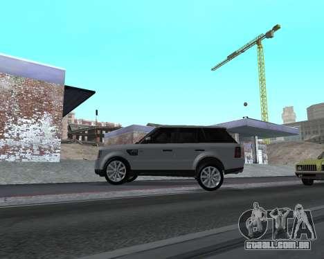 Range Rover Armenian para GTA San Andreas traseira esquerda vista