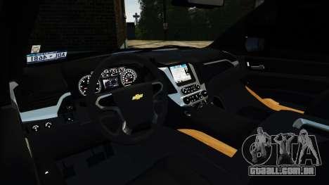 Chevrolet Tahoe 2015 V1.1 para GTA 4 vista direita