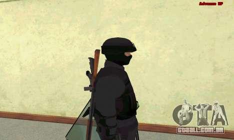 Pele SWAT GTA 5 para GTA San Andreas quinto tela