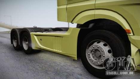 Mercedes-Benz Actros Mp4 6x4 v2.0 Steamspace para GTA San Andreas traseira esquerda vista