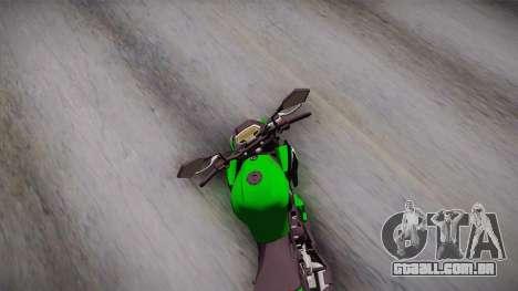 Kawasaki Z1000 2013 para GTA San Andreas vista direita