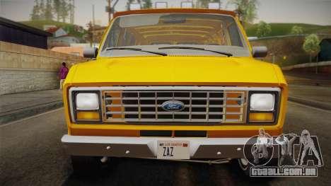 Ford E-150 Commercial Van 1982 2.0 IVF para GTA San Andreas vista direita