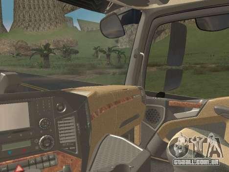 Mercedes-Benz Actros Mp4 6x4 v2.0 Steamspace v2 para GTA San Andreas vista inferior