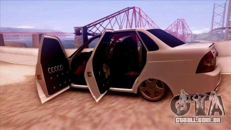 Lada Priora Autozvuk v.1 para vista lateral GTA San Andreas