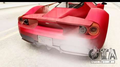 GTA 5 Vapid FMJ IVF para vista lateral GTA San Andreas