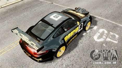 Porsche Rallye Vespas 911 GT3 RSR para GTA 4 traseira esquerda vista