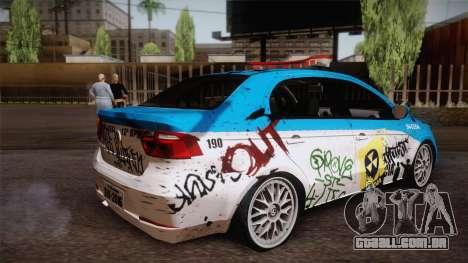 Volkswagen Voyage G6 Pmerj Graffiti para GTA San Andreas esquerda vista