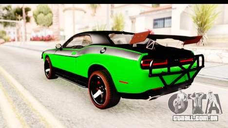 Dodge Challenger F&F 7 para GTA San Andreas esquerda vista