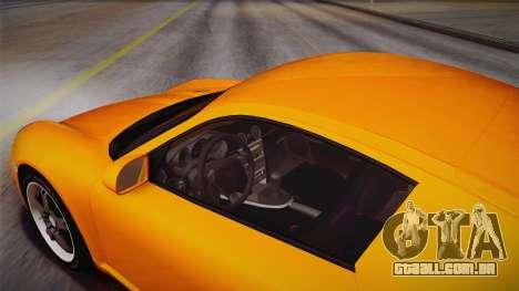 Ruf RK Coupe (987) 2007 IVF para GTA San Andreas vista interior