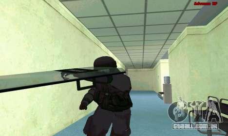 Pele SWAT GTA 5 (PS3) para GTA San Andreas sétima tela