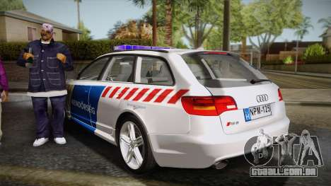 Audi RS6 Hungarian Police para GTA San Andreas esquerda vista