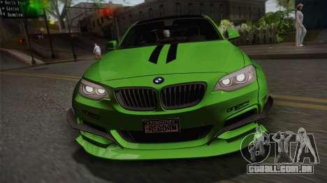 BMW M235i 69Works para GTA San Andreas vista direita