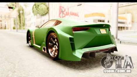 GTA 5 Emperor ETR1 para GTA San Andreas vista direita