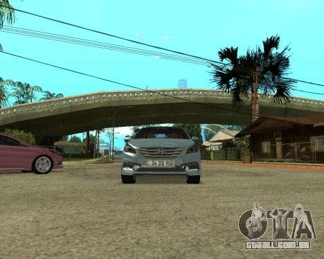 Hyundai Sonata Armenian para GTA San Andreas vista direita