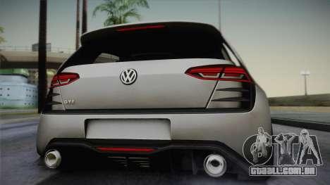 Volkswagen Golf Design Vision GTI para GTA San Andreas vista traseira