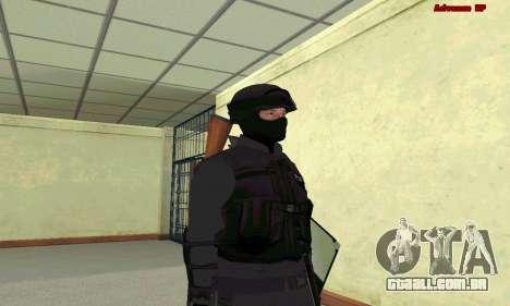 Pele SWAT GTA 5 para GTA San Andreas segunda tela