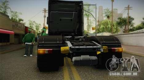 Mercedes-Benz Actros Mp4 6x4 v2.0 Steamspace v2 para GTA San Andreas vista interior