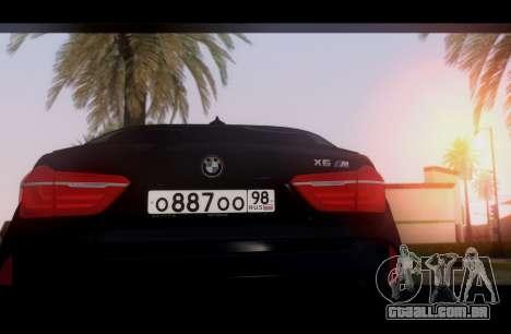 BMW X6M BULKIN SAMP EDITION para GTA San Andreas vista direita