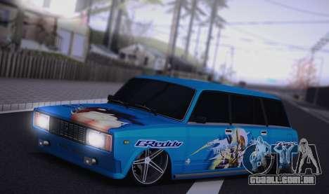 VAZ 2104 Anime para GTA San Andreas esquerda vista