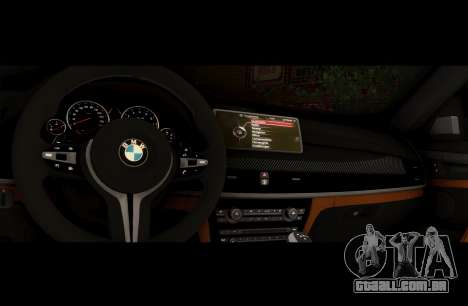 BMW X6M BULKIN SAMP EDITION para GTA San Andreas vista traseira