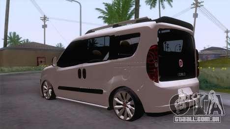 Fiat Doblo para GTA San Andreas traseira esquerda vista