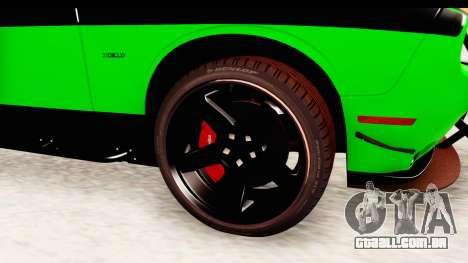 Dodge Challenger F&F 7 para GTA San Andreas vista traseira