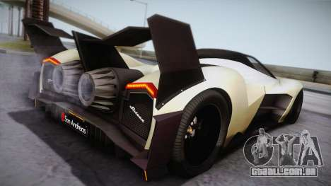 Devel Sixteen para GTA San Andreas esquerda vista