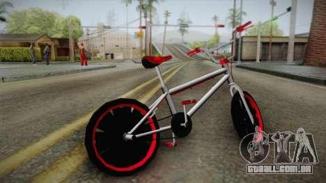 Dark Red BMX para GTA San Andreas esquerda vista