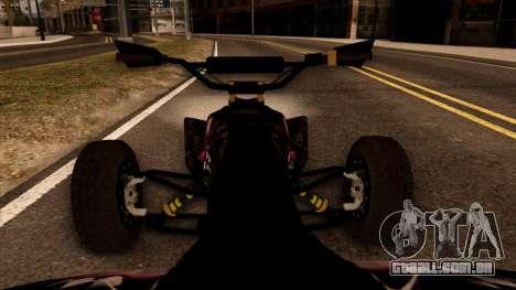 Quad Graphics Skull para GTA San Andreas vista traseira