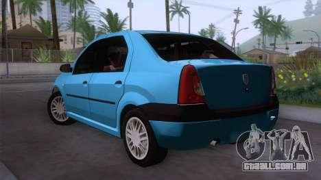 Dacia Logan Prestige 1.6L 16V para GTA San Andreas esquerda vista