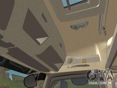 Mercedes-Benz Actros Mp4 6x4 v2.0 Bigspace para vista lateral GTA San Andreas