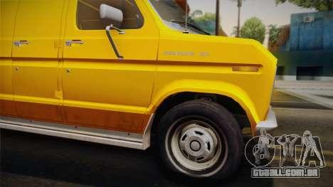Ford E-150 Commercial Van 1982 2.0 IVF para GTA San Andreas traseira esquerda vista