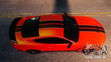 Shelby GT350R 2016 para GTA 4 vista de volta