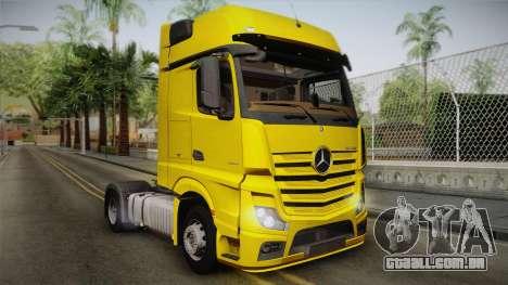 Mercedes-Benz Actros Mp4 4x2 v2.0 Gigaspace v2 para GTA San Andreas