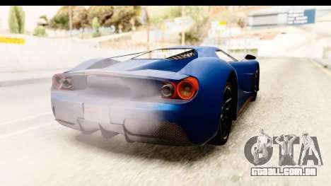 GTA 5 Vapid FMJ SA Style para GTA San Andreas esquerda vista