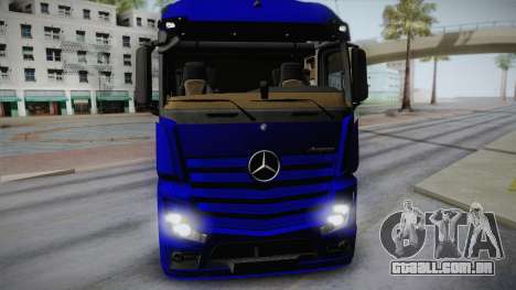 Mercedes-Benz Actros Mp4 v2.0 Tandem Steam para GTA San Andreas traseira esquerda vista