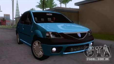 Dacia Logan Prestige 1.6L 16V para GTA San Andreas vista direita