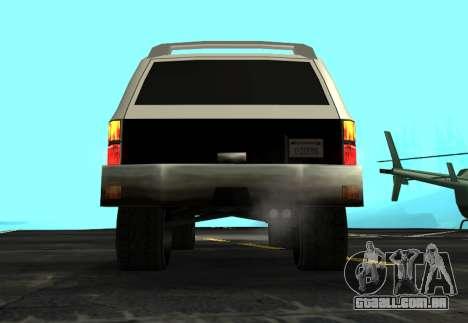 FBI Rancher Tuning para GTA San Andreas vista traseira