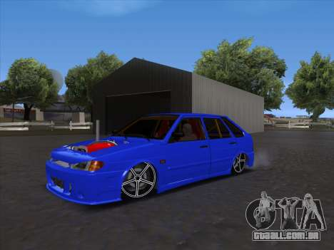 VAZ 2114 Sport para GTA San Andreas traseira esquerda vista