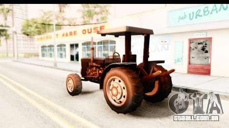 Modern Tractor para GTA San Andreas esquerda vista