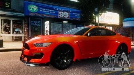 Shelby GT350R 2016 para GTA 4 vista direita