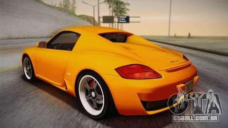 Ruf RK Coupe (987) 2007 IVF para GTA San Andreas esquerda vista