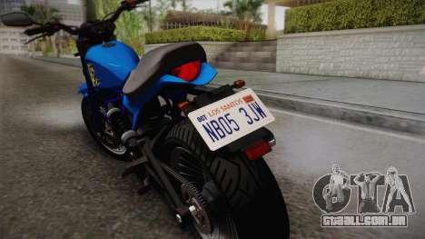GTA 5 Pegassi Esskey para GTA San Andreas traseira esquerda vista